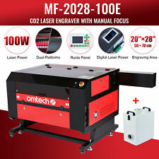 Mf 2028 100e 100w 28x20 Bed Co2 Laser Engraving Machine With Fume Extractor