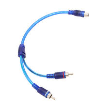 1 RCA Female To 2 Male Splitter Stereo Audio Y Adapter Cable Wire Connector New