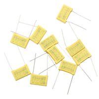 V2R1 50pcs 10 Value Polypropylene Safety Plastic Film Capacitor 1nF-0.47uF