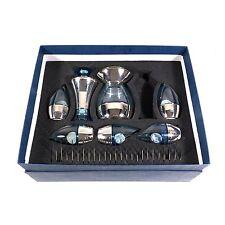 Bombay Sapphire Cocktail Shaker Blue Glass Barware Set by H. Gutfreund IOB