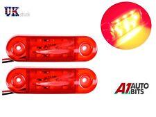 2X 12V 9 SMD LED REAR SIDE MARKER RED LIGHTS TRAILER CARAVAN TRUCK VAN