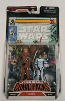 Chewbacca & Han Solo Figure 2-Pack Star Wars Comic Packs 2006 Hasbro NEW SEALED