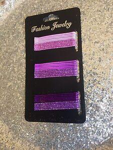 Fashion jewelry 30 Clip Invisible Hairstyle Chignon Hair Glitter Purple