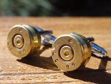 7.62 x 51 mm Cufflinks -- Ammo Ammunition Brass Bullet Caliber 7.62x51mm NATO