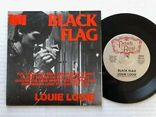 """Noir Drapeau Louie 1981 US Posh Boy 7 """" Petit Trou + Image Manche Punk 45"""