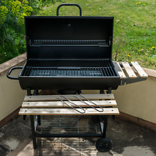 More details for garden outdoor classic bbq smoker grill black portable folding patio