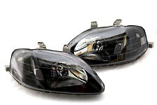 99-00 Honda Civic JDM Black Headlights Clear Hatch Back Coupe Sedan 2/3/4 EK EM