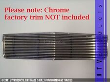 GTG 1986 - 1990 Chevy Caprice / Impala 1PC Polished Upper Overlay Billet Grille