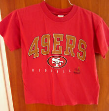 SAN FRANCISCO 49ERS youth lrg T shirt NFL football retro 1998 tee Riddell OG