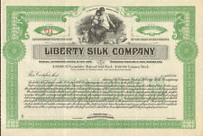 Liberty Silk Company > New Jersey scripophily stock certificate share