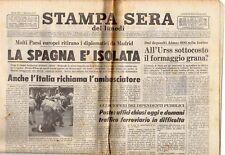 rivista STAMPA SERA DEL LUNEDI' 29/09/1975 numero 216 LA SPAGNA E' ISOLATA