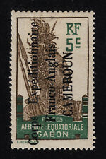 "CAMEROUN #105 Mint Hinged INSCRIBED ""AFRIQUE EQUATORIAL"" SCV $40.00 NICE CENTER"