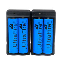 4 PACK: 3000mAh 18650 3.7v Li-ion Rechargeable Battery BRC Battery + 2 x Charger