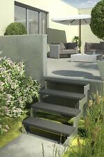Außentreppe Gardentop ohne Geländer mit Trimaxstufen anthrazit