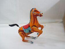 Vintage 1950's Japan Made DAIYA Wind up Tin Toy Bucking Horse