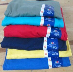 Men's Women T-Shirt Fruit of The Loom 3XL 6 Pc 6 colors 100 % Cotton Moss Yellow