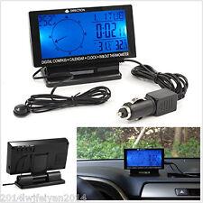 Car Electronic Compass Clock Thermometer Calendar Blue Backlight Digital Display