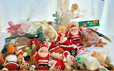 LARGE LOT OF VINTAGE CHRISTMAS ORNAMENTS & DECORATIONS - VARIETY