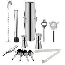 Cocktail Shaker Set Maker Mixer Martini Spirits Bar Strainer Bartender Kit