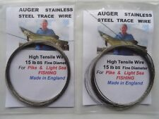 2  x 15 lb BS Coils  Stainless Steel  Fishing Wire made in England