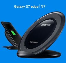 Samsung Black Galaxy Fast Qi Wireless Charger Stand - S7, S7 Edge, S8, S8+ Plus