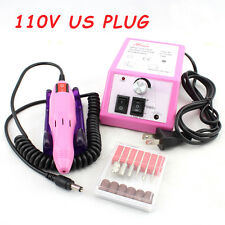 Lovely Pink 110V US Plug 20000RPM Nail Drill Grinder Manicure Machine Nail Drill