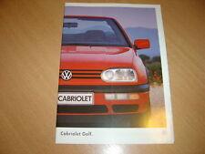 CATALOGUE VW Golf Cabriolet  de 1995