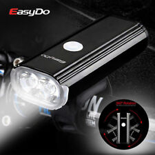 Easydo USB Recharge Bike Front Light 2LED Waterproof Headlight 4400mA 1000Lumen