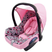 Bambiniwelt Extra Bed Linen 6tlg. Maxi-Cosi Cabrio Fix Baby Seat Cover Pink Owl