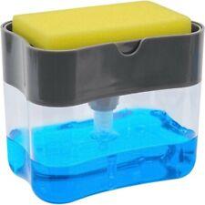 Multifunction Soap Dispenser Washing Pump Sponge Kitchen & Bathroom Storage Box