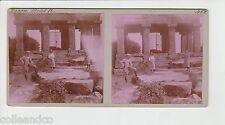 █ Vue Stéréoscopique / Stéréo : ALSACE 67 Le temple du Donon en 1913 Photo ROSE
