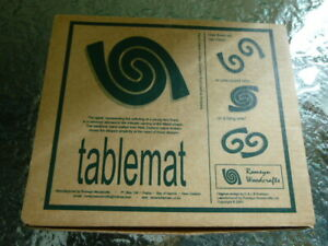 Romeyn Woodcrafts Rimu Table Mats Handmade in New Zealand 2003 Maori Design