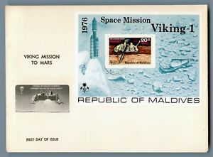 DR WHO 1976 MALDIVES FDC SPACE VIKING MISSION TO MARS S/S  C240448