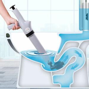 Sewer Dredger Plunger High Pressure Home Toilet Bathroom Sink Dredge Tool
