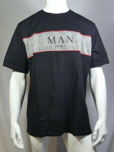 Mens Plus Size Man Roman Jacquard Panel T-Shirt XXL Black MTJul30-8