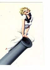 Unframed poster pin-up  navy woman blonde sitting on a cannon    (SC8
