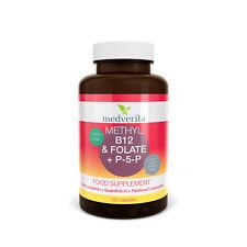 Vitamin B12 METHYL Folate 5MTHF Quatrefolic® P-5-P B6 + inulin 100% vege 120caps