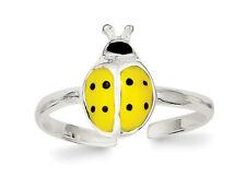 Sterling Silver Enameled & Polished Lady Bug Toe Ring