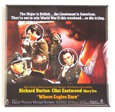 Where Eagles Dare Fridge Magnet (3 x 3 inches) movie poster