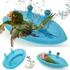 Bird Water Bath Tub For Pet Bird Cage Hanging Bowl Parrots Parakeet Birdbath 1Pc
