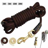 3m 5m 10m 20m Nylon Pet Tracking Lead Rope Medium Large Dog Long Training Leash