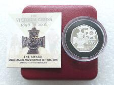 2006 Royal Mint Victoria Cross Award 50p Fifty Pence Silver Proof Coin Box Coa