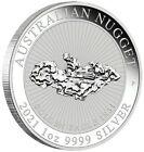 2021 1 Oz Silver $1 AUSTRALIAN NUGGET Golden Eagle 1931 BU Coin.