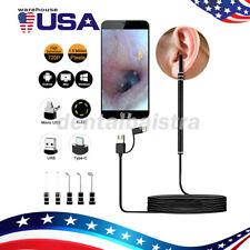 Usb C Digital Led Otoscope Ear Wax Camera Scope Earwax Removal Kit Cleaning Tool