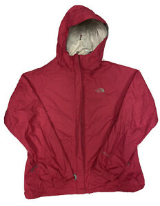The North Face Women's Full Zip Pink Hyvent DT Rain Jacket Size Large