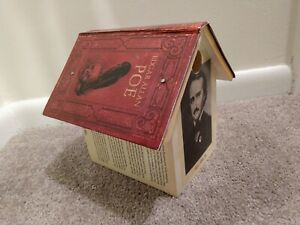Handmade 2013 David Vissat Edgar Allen Poe Wooden Birdhouse - Signed on Base