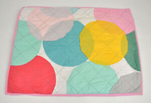 CIRCO Pillow CASE Cover SHAM Pink GIRL'S Blue GREEN Yellow DOTS Circles QUILTED