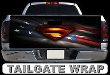 T237 SUPERMAN Tailgate Wrap Decal Sticker Vinyl Graphic Bed Cover