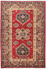 2.5X4 Hand-Knotted Kazak Carpet Tribal Red Fine Wool Accent Rug D45501