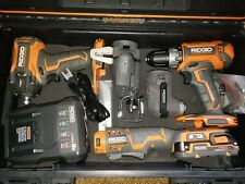 Ridgid Drill/ Stealth Pulse Impact Driver/Multi Tool Console 2 Heads 3-Tool Kit